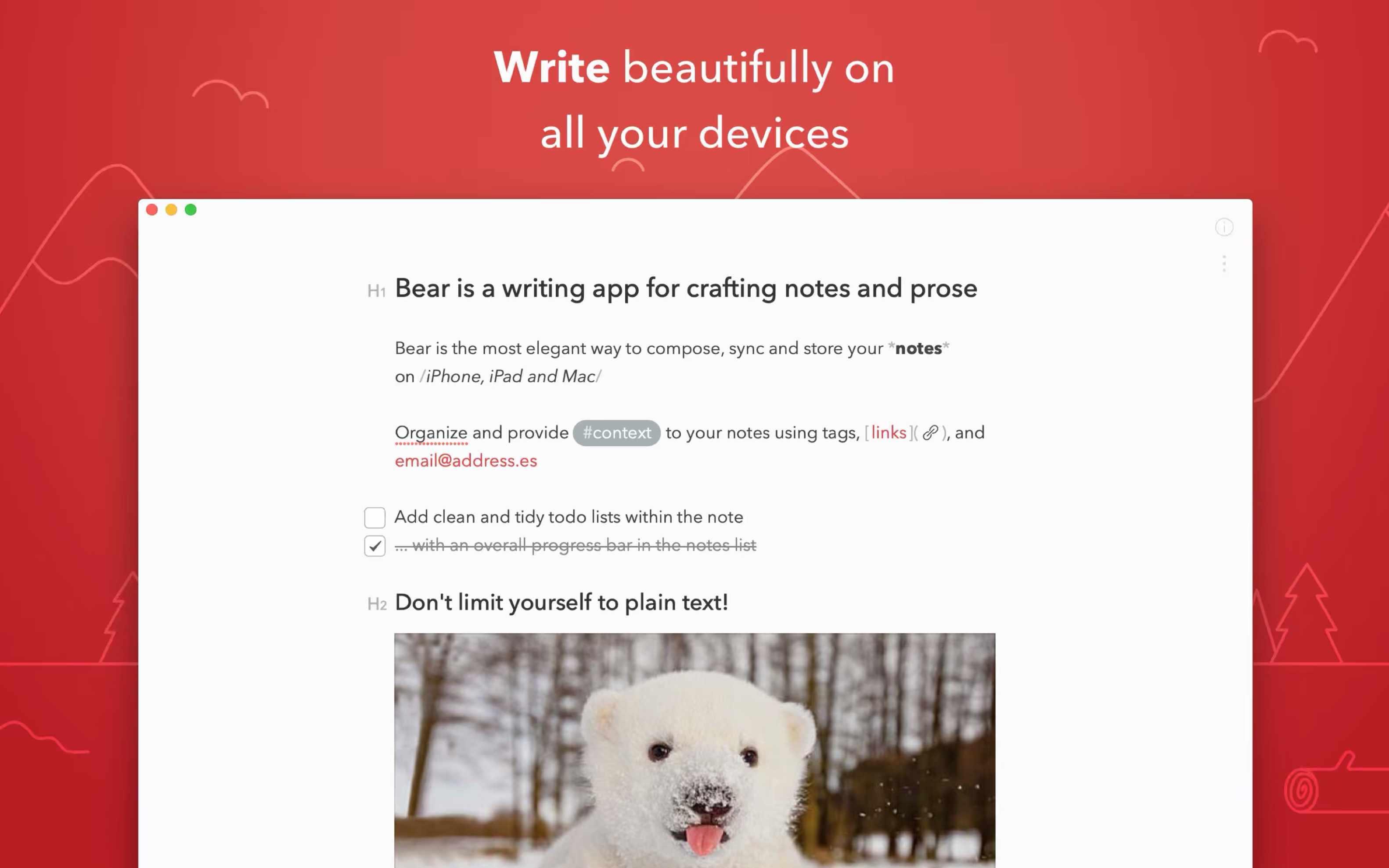 Bear app for macOS