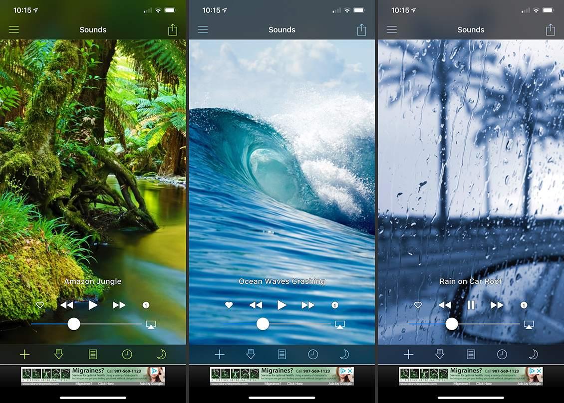 multiple White Noise Lite screens