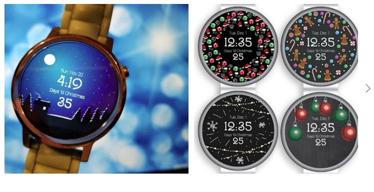 25 Days Christmas WearOS watch face