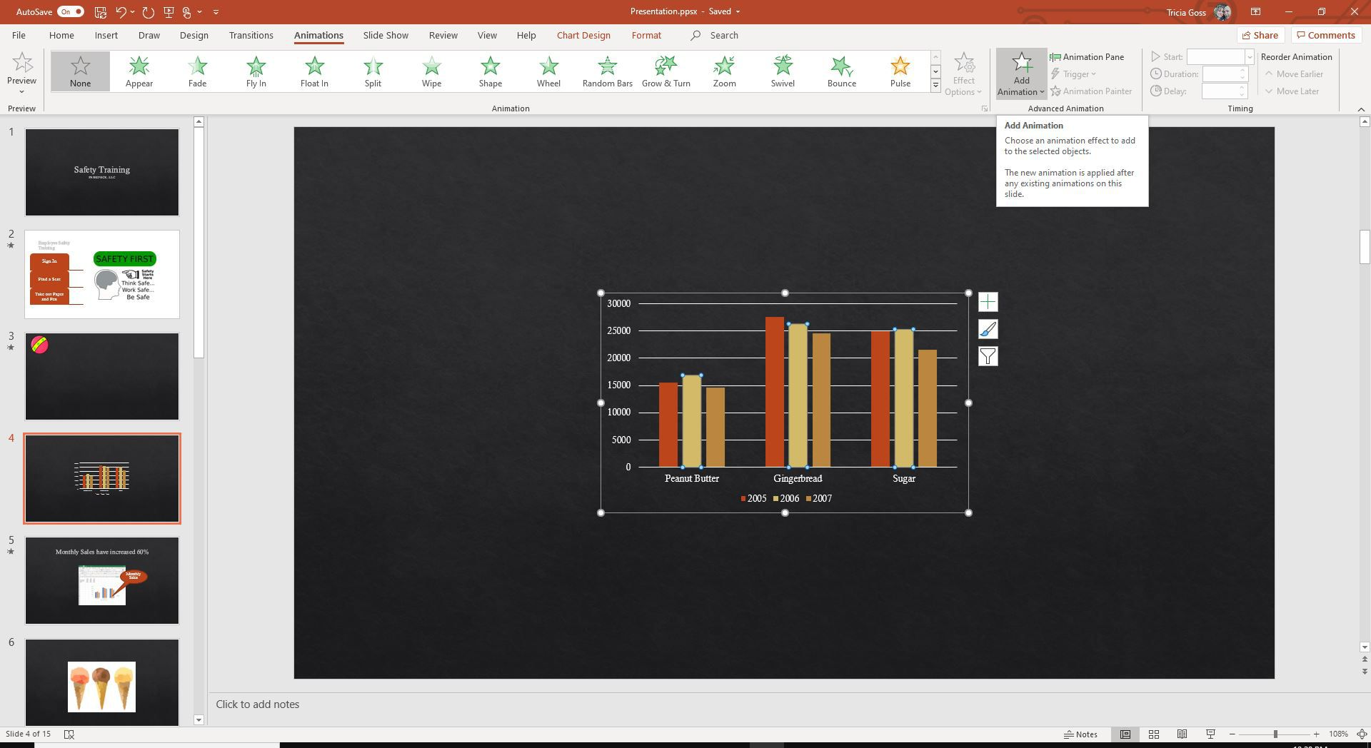 Screenshot of Add Animation