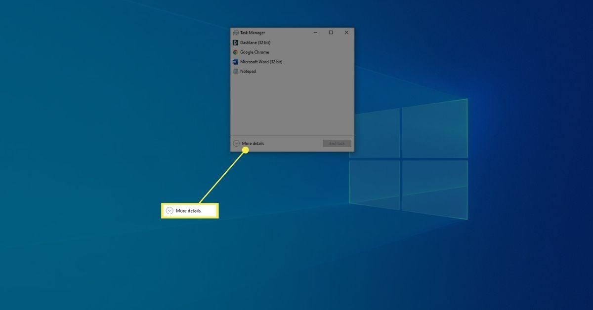 More Details on Task Manager