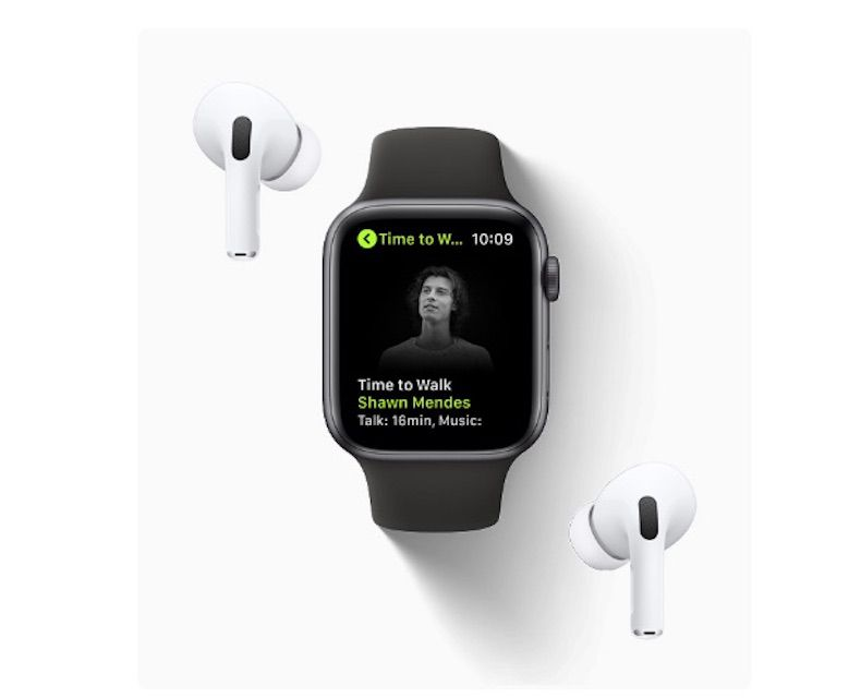Time to Walk episode on an Apple Watch featuring Shawn Mendes