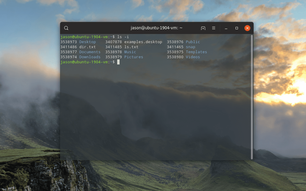 linux inode values