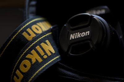 Nikon camera and camera strap