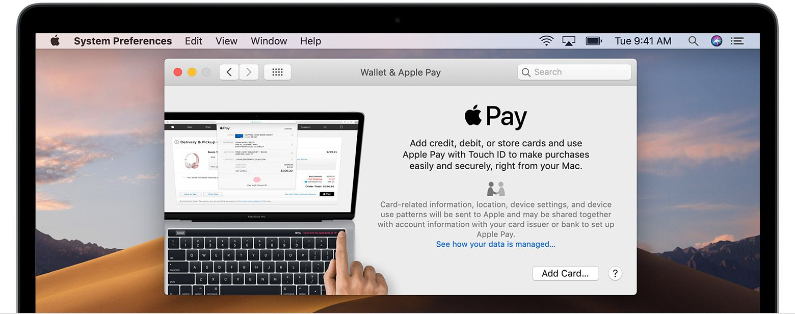 Setting up Apple Pay on a Mac