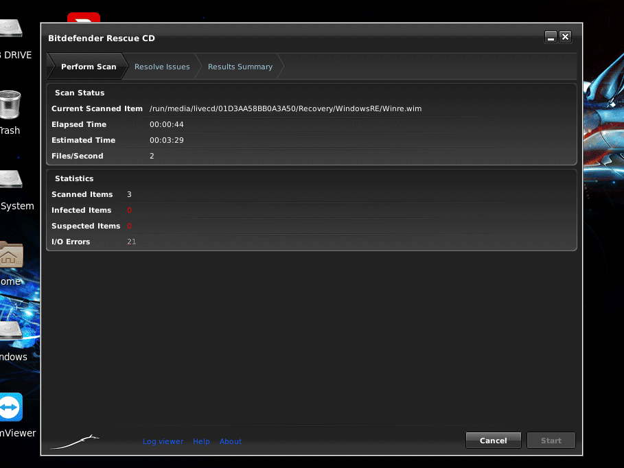 Bitdefender Rescue CD v2 Review (Free Bootable AV Tool)