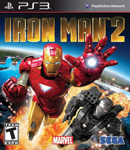 Iron Man 2: The Game Box Art (PS3)