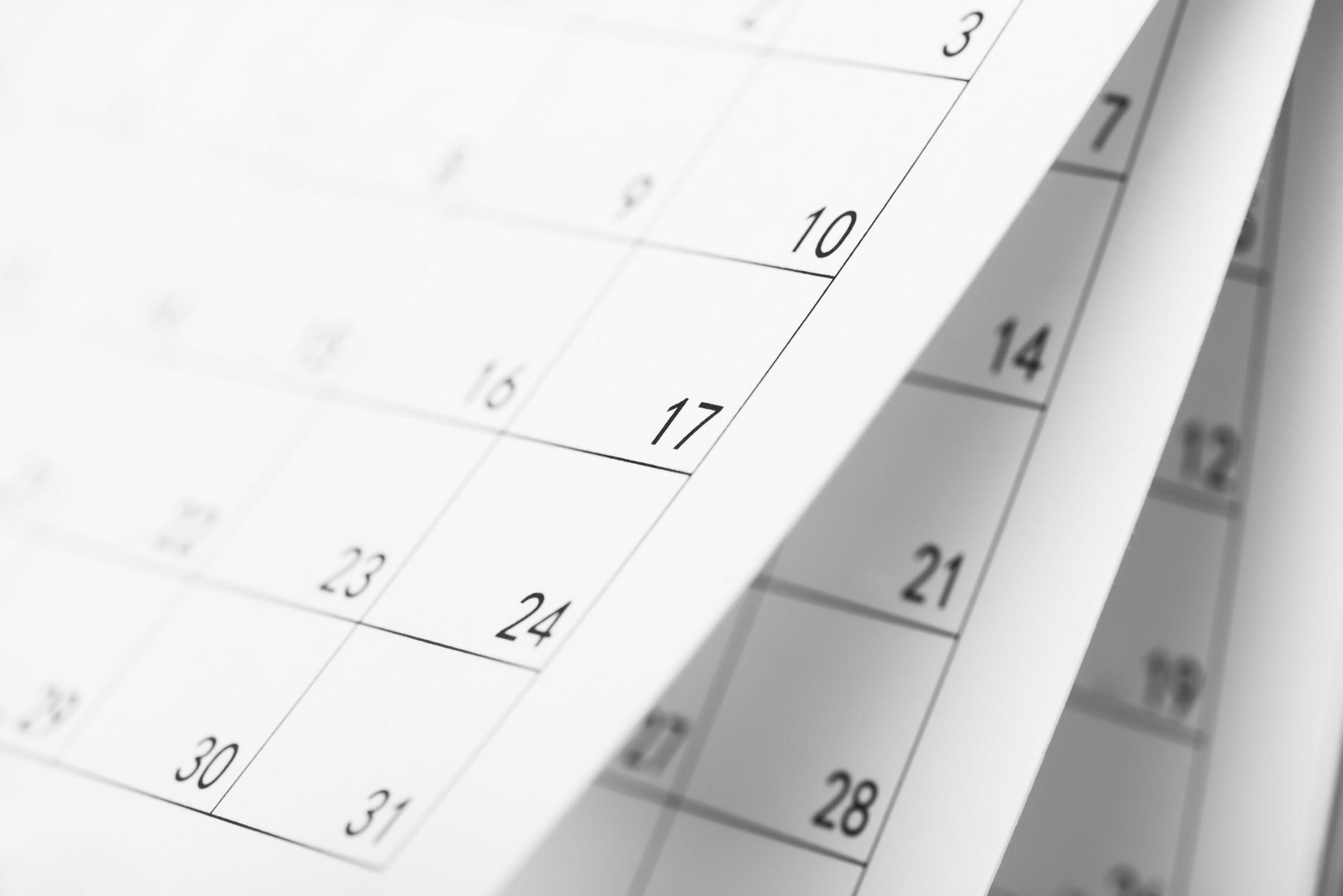 An image of a calendar.