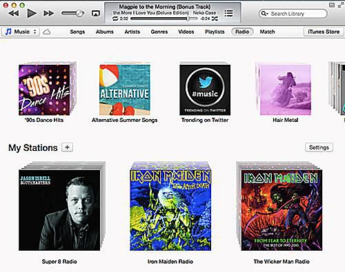 Using iTunes Radio, step 1