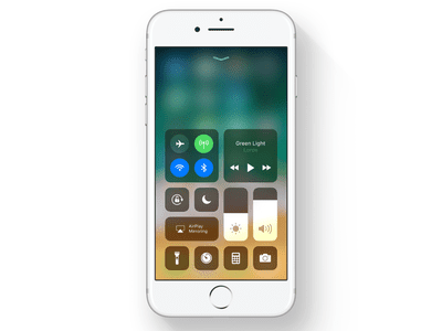 iOS 11's Control Center, shown on an iPhone 7