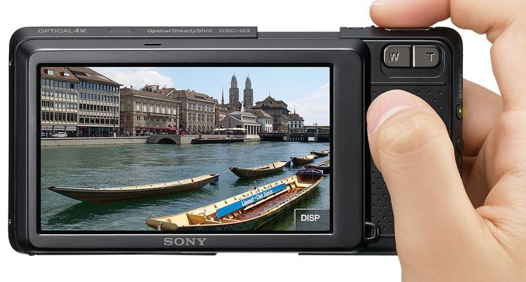 This digital camera, the Cyber-Shot G3, has an especially wide LCD.