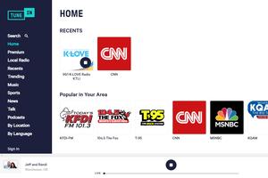 TuneIn streaming radio website