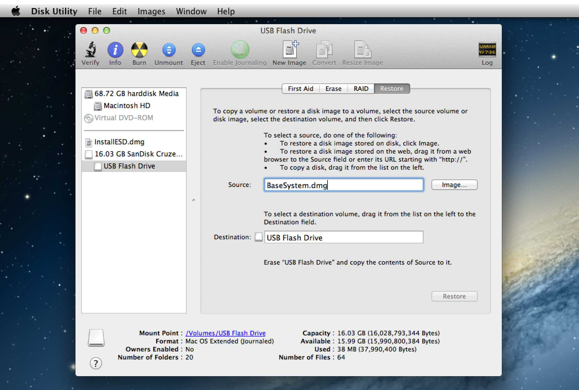 create bootable iso mac disk utility