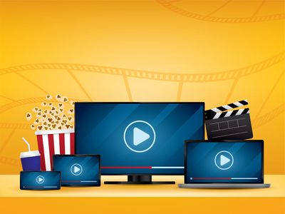 Illustration of movies and popcorn to show streaming on various devices