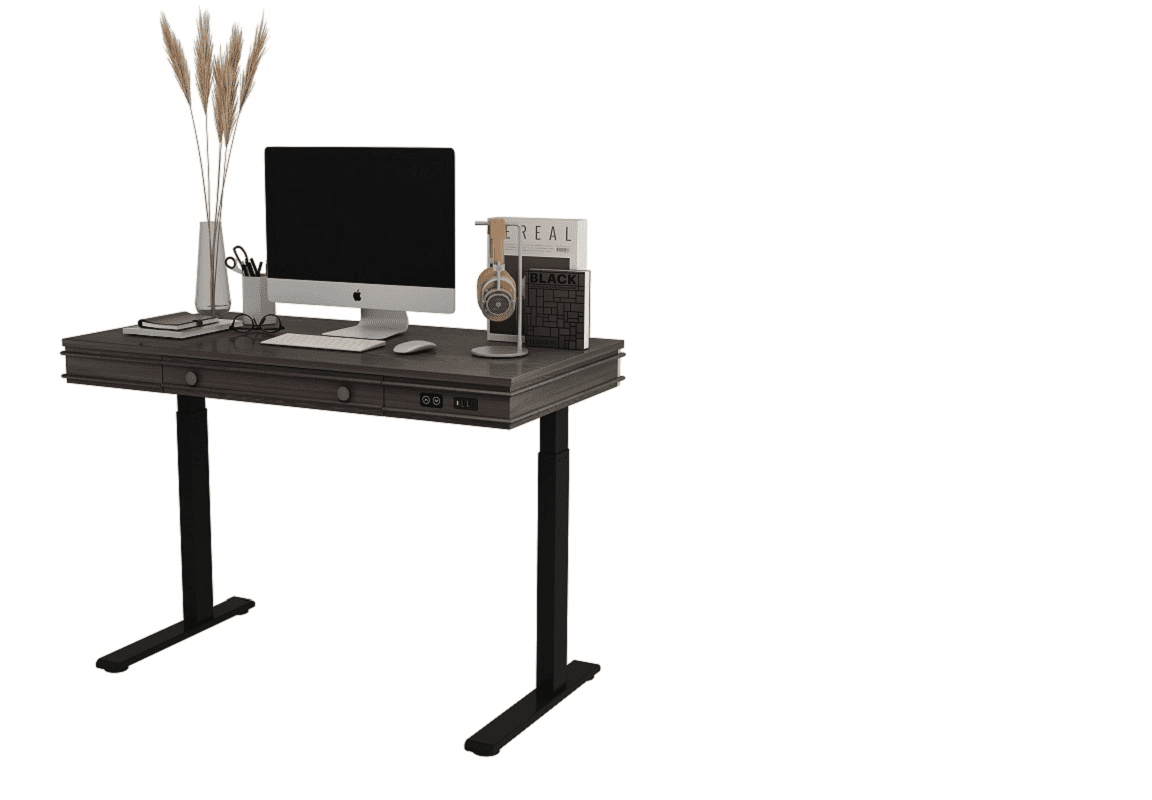 The Flexispot Theodore adjustable standing desk on a white background.