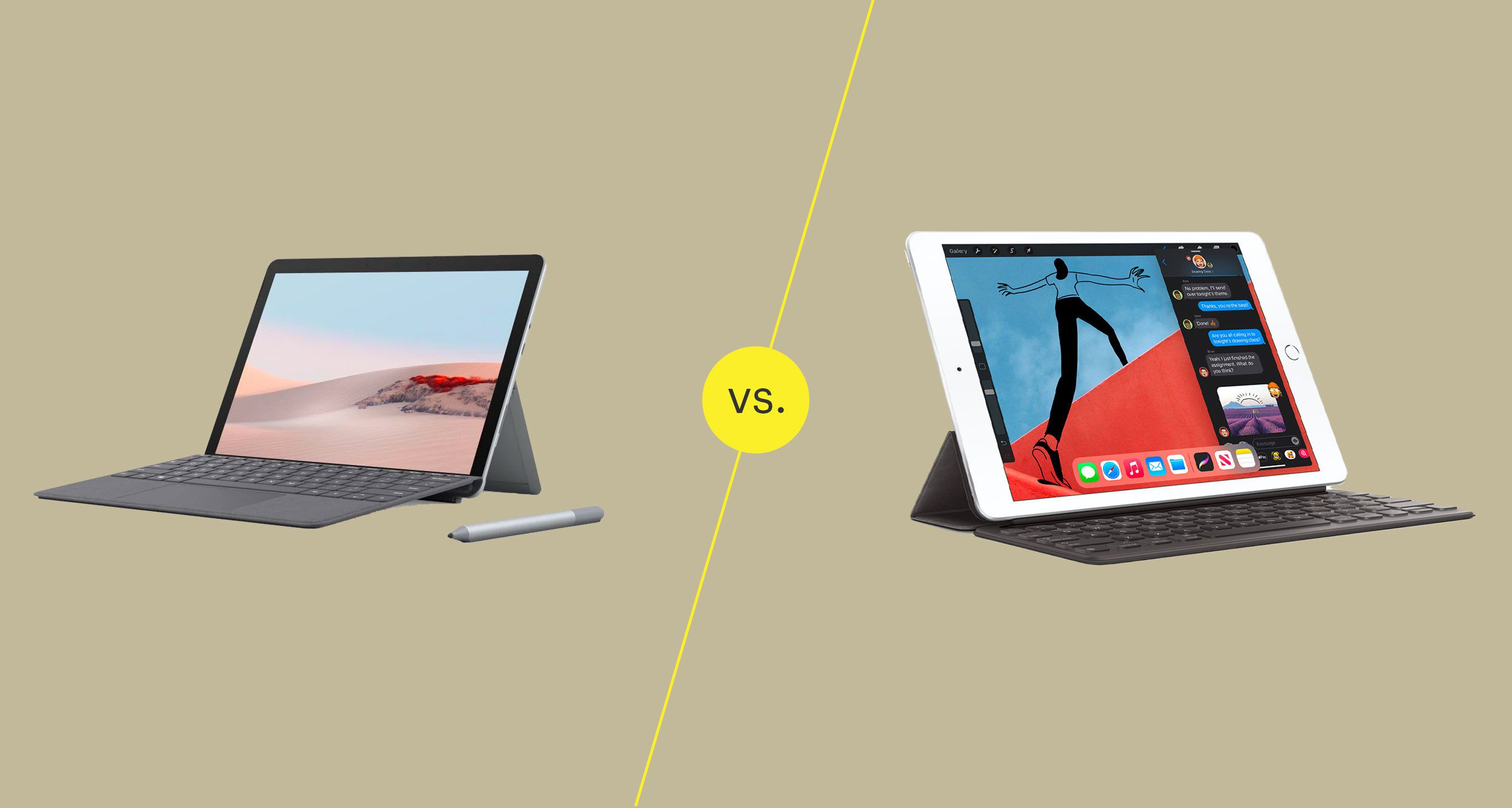 Surface Go 2 and the 8th generation iPad