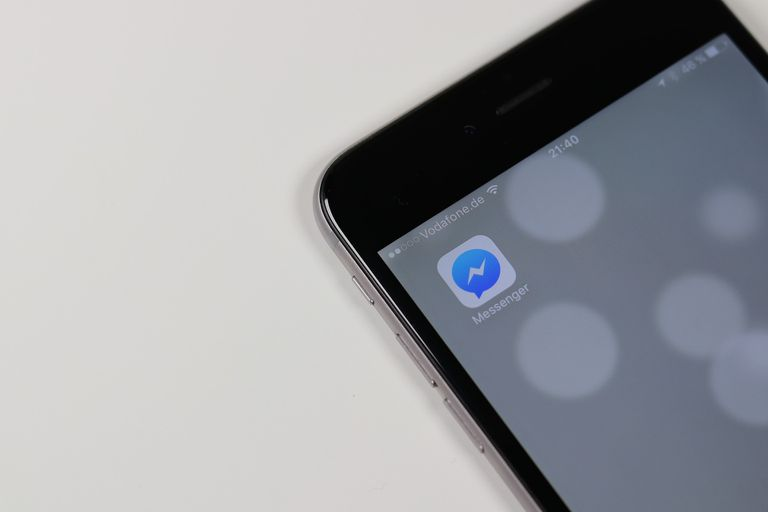Facebook Messenger app icon on a smartphone