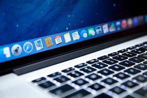 MacBook Pro close up of tool bar