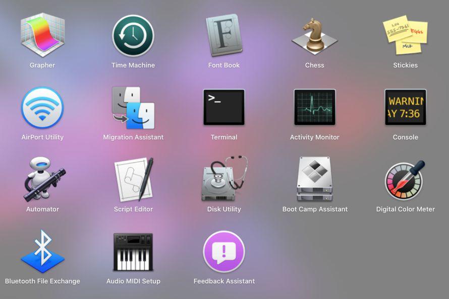 Terminal app in MacOS launcher