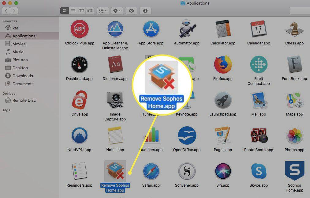 Remove Sophos Home app