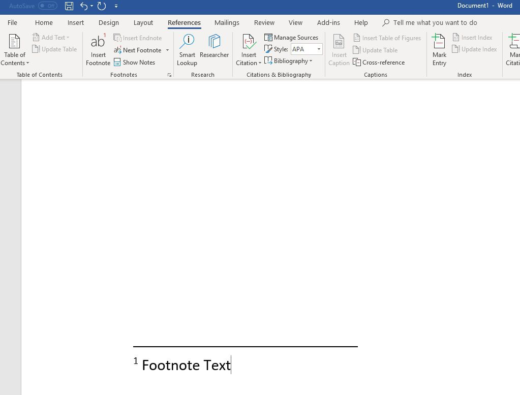 How to Insert Footnotes in Word 2010