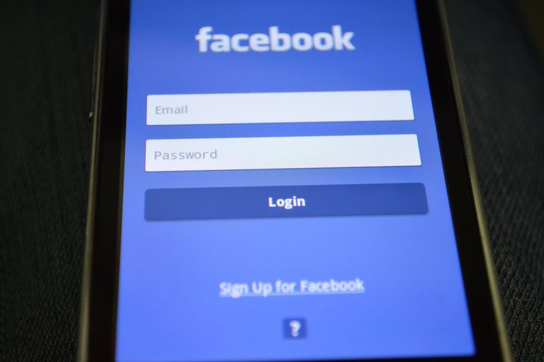 An image of the Facebook login page on a smartphone.