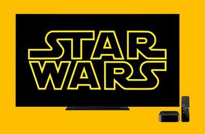 Star Wars logo on a TV
