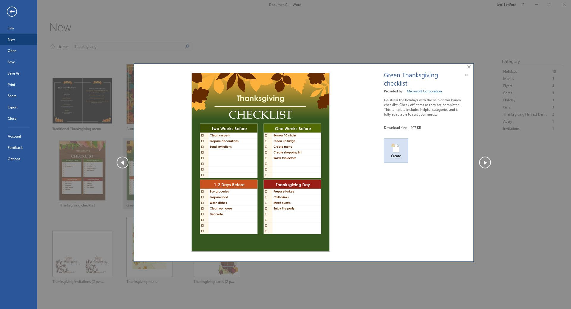 Best Free Thanksgiving Templates For Microsoft Word