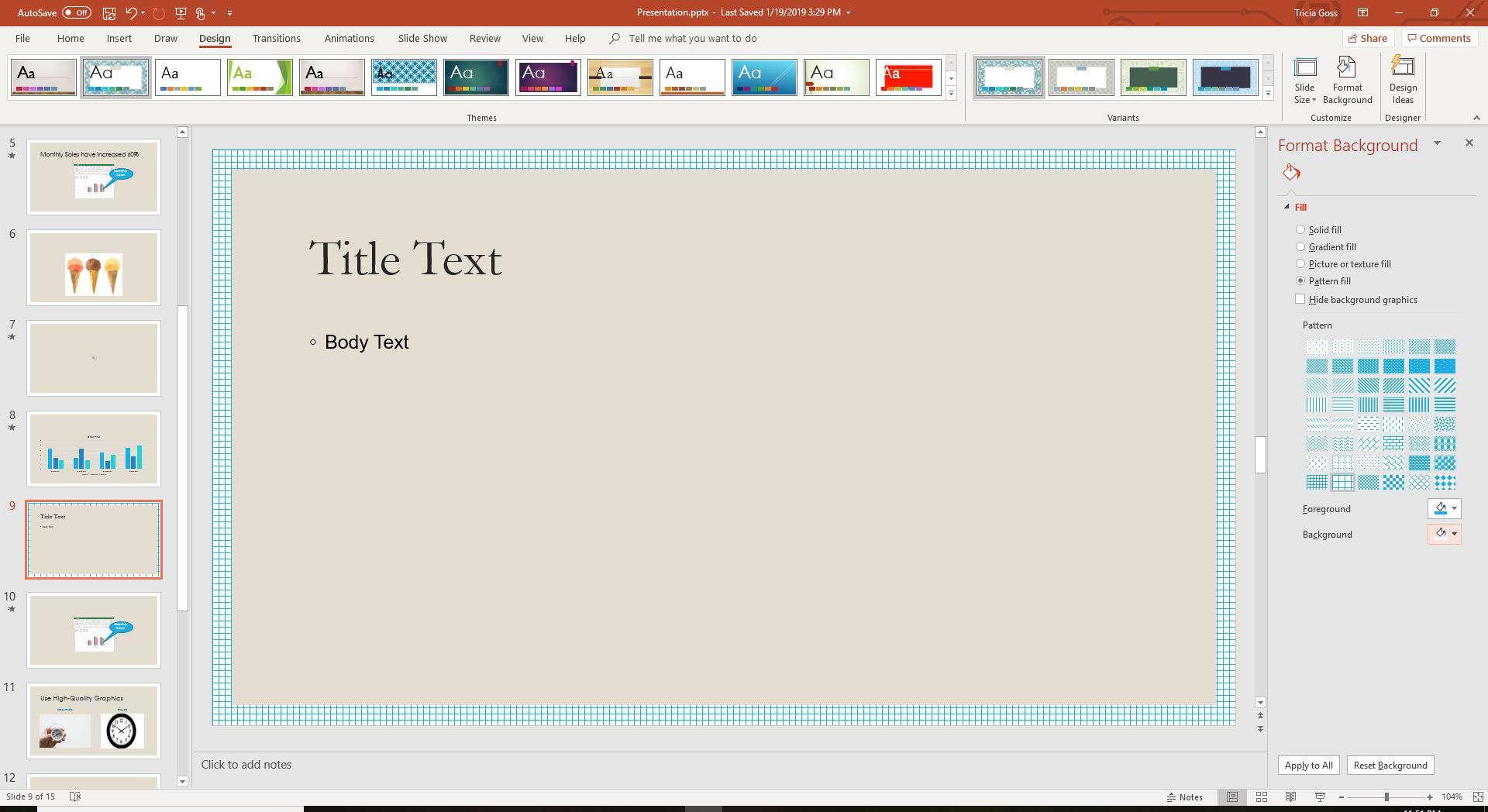 Pattern Fill in PowerPoint