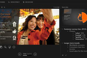 PowerPoint Presenter View in Microsoft 365.