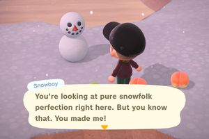 A perfect Snowboy in Animal Crossing: New Horizons