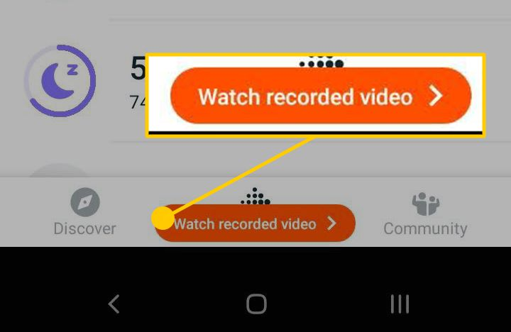 Watch recorded video on Android