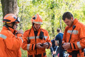 Firefighters using police scanner radios