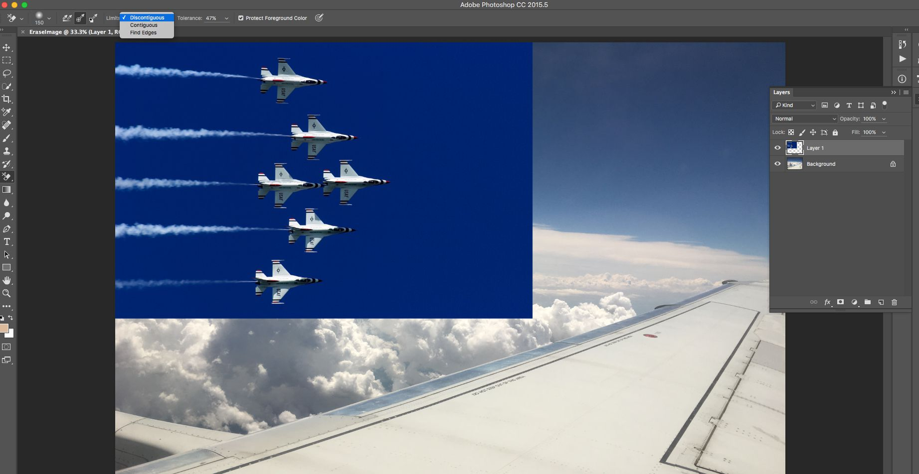 how to use the photoshop background eraser tool
