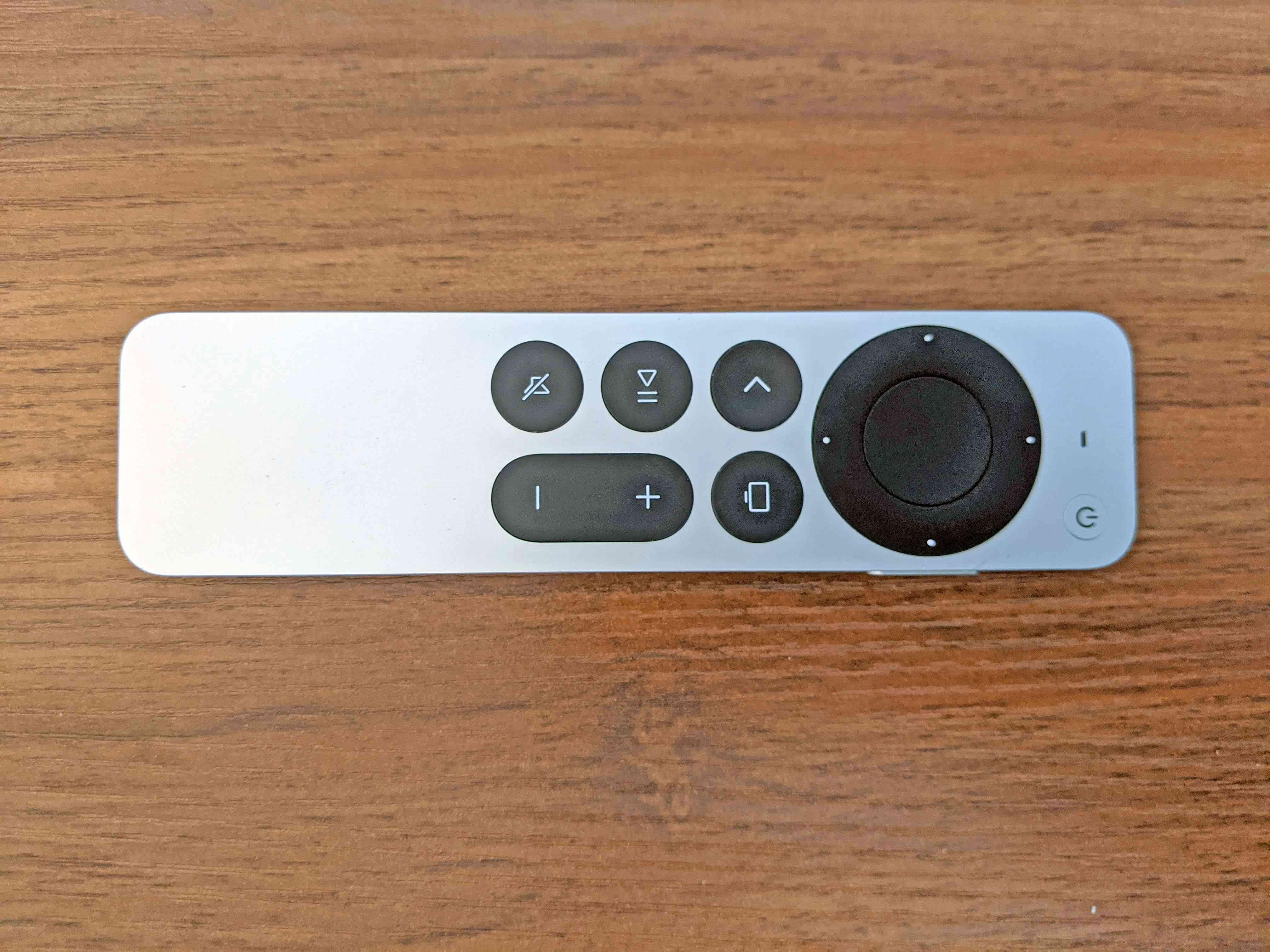 The Apple TV 4K Siri remote.