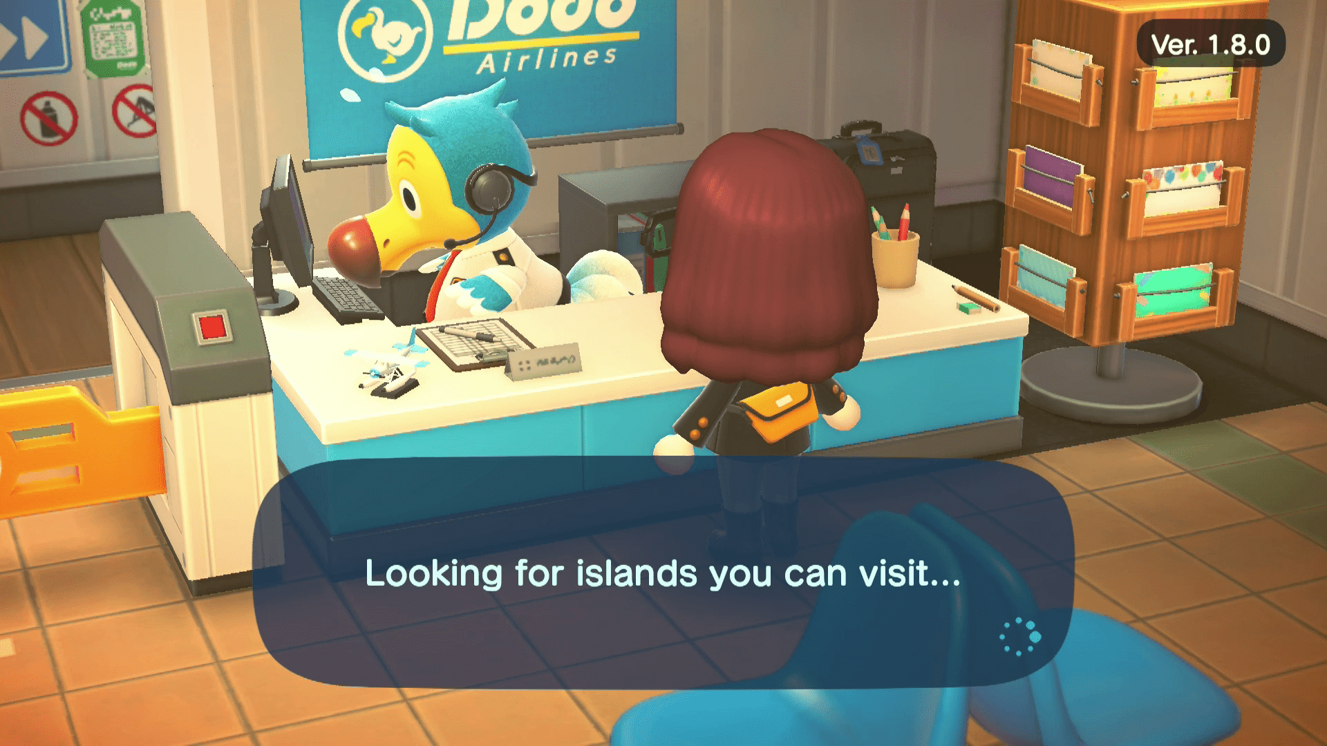 Animal Crossing searching for friends to visit.