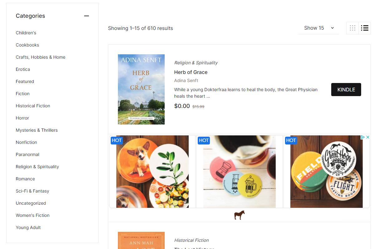 Screenshot of a free book on OHFB