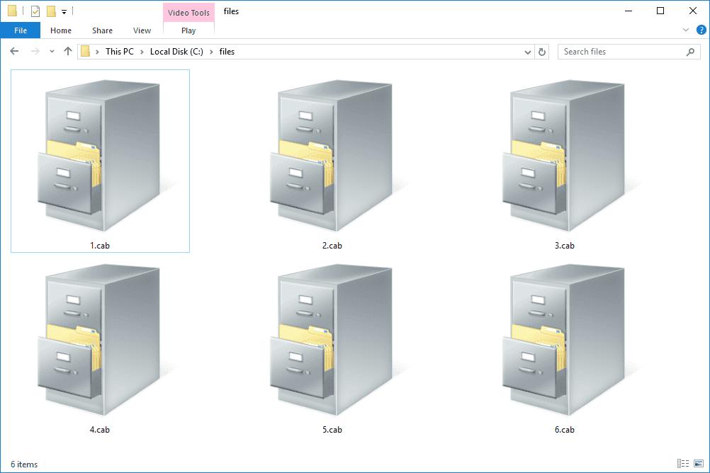 CAB files in Windows 10