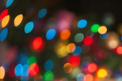 Soft focusing on Christmas lights