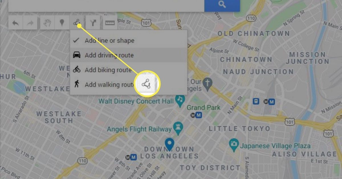 Draw a Line tool in Google Maps