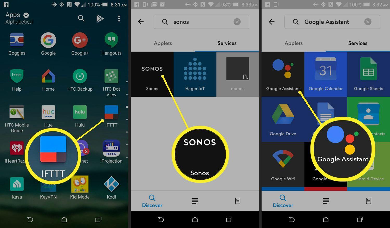 IFTTT Google Assistant Sonos