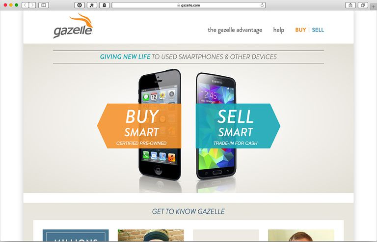 gazelle used electronics website screenshot