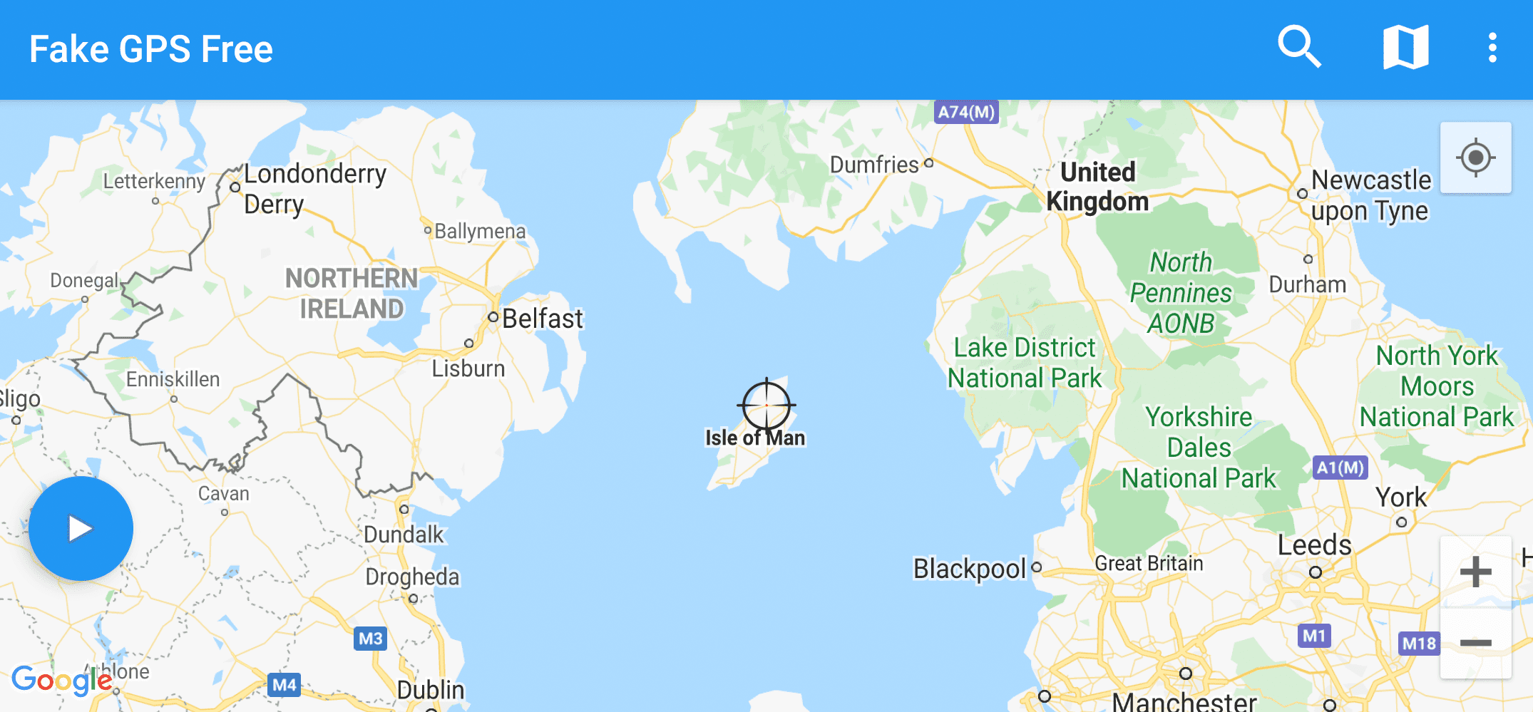 Fake GPS Free Android app map