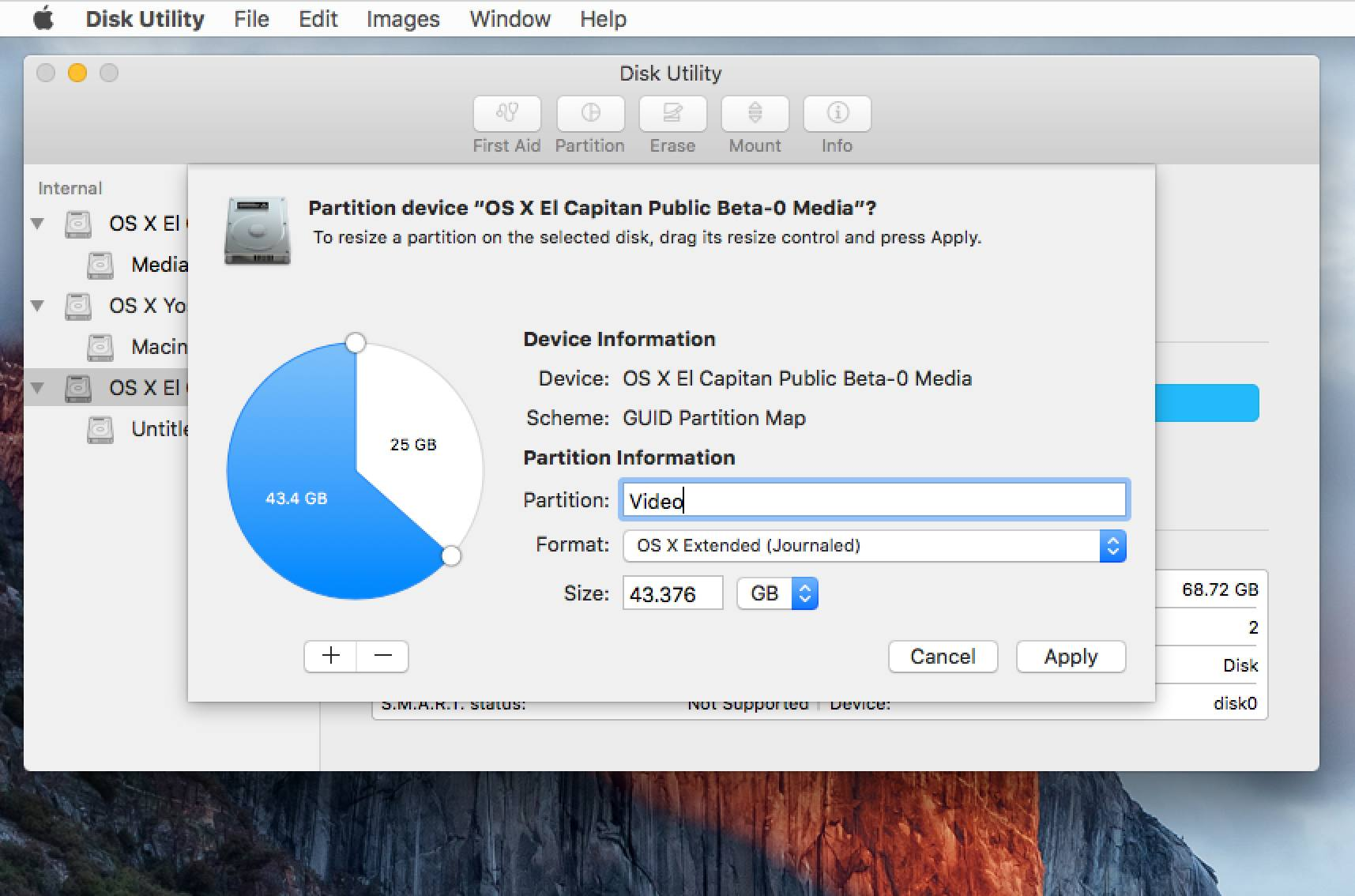 Partition a Drive with OS X El Capitan's Disk Utility