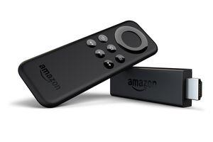 Amazon Fire TV, remote control and USB drive