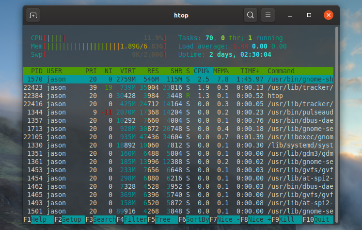 Linux interface.