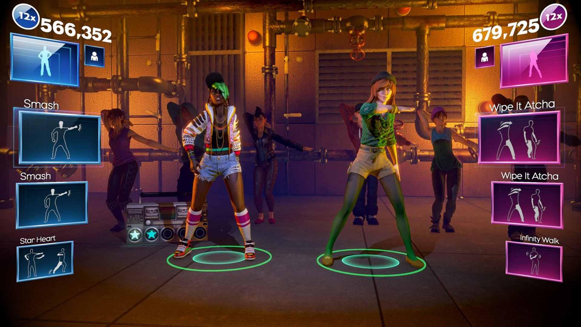 Dance Central Spotlight offline dance game on Xbox One.