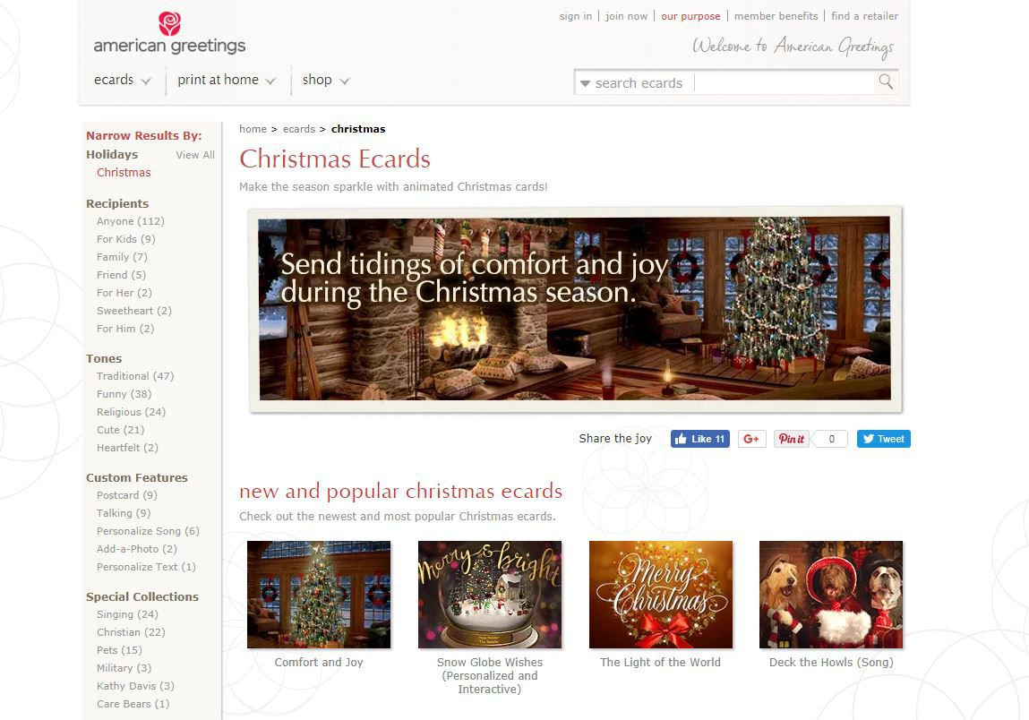 The best christmas e card sites m4hsunfo