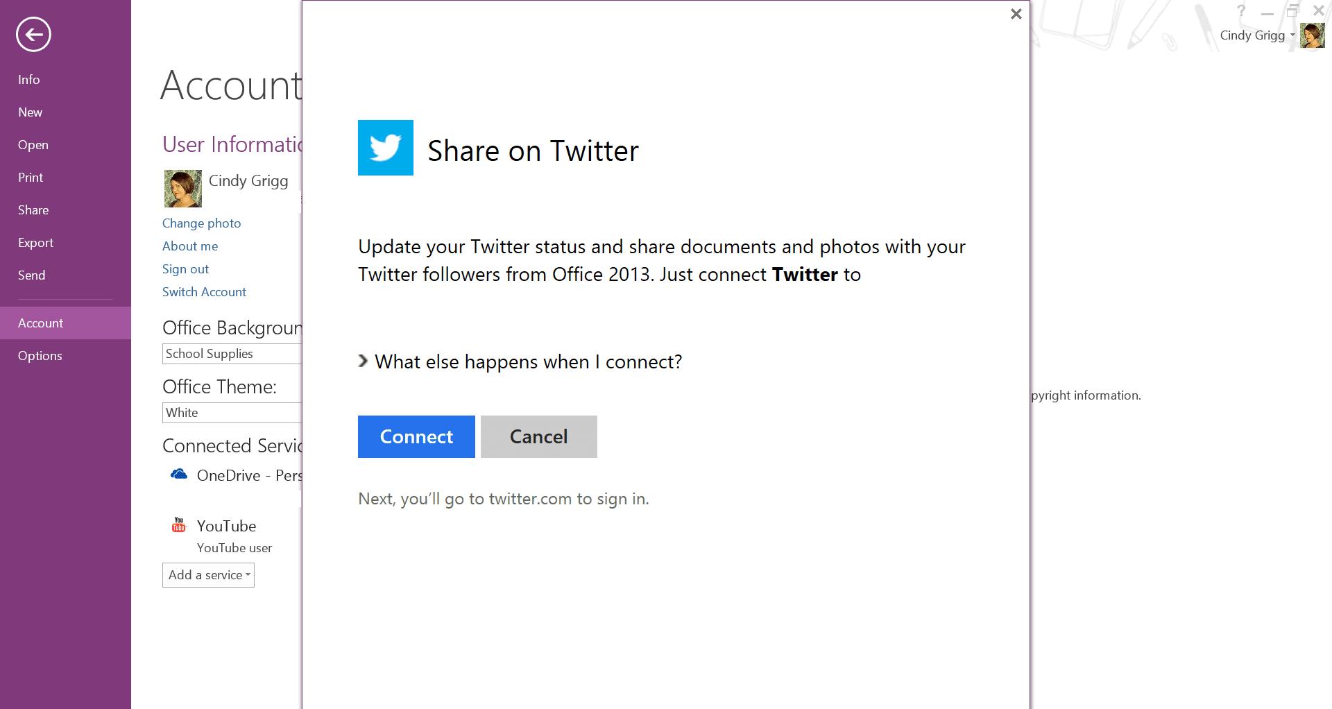 Share OneNote to Twitter