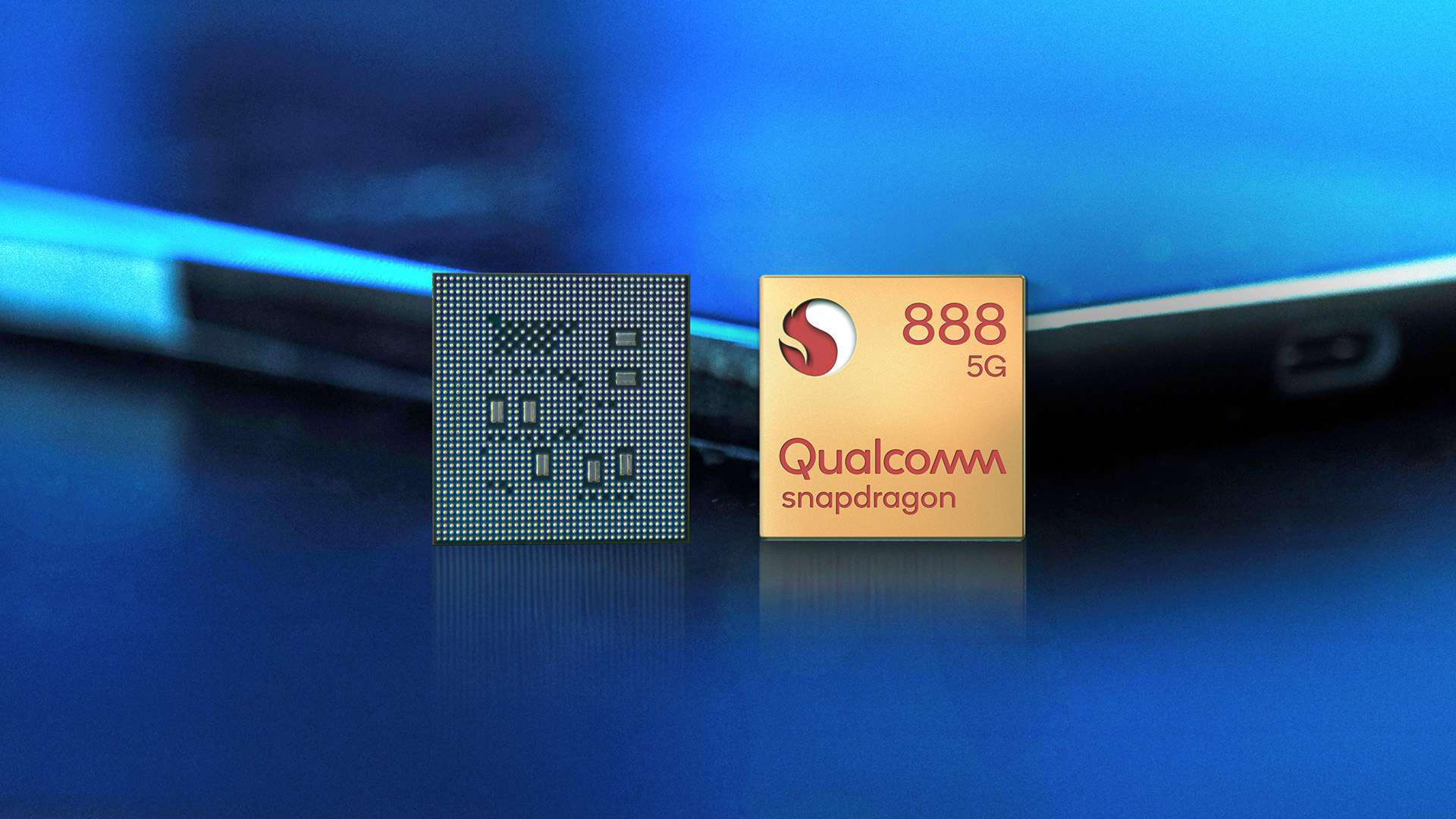 Qualcomm's Snapdragon 888 5G Chip front and back
